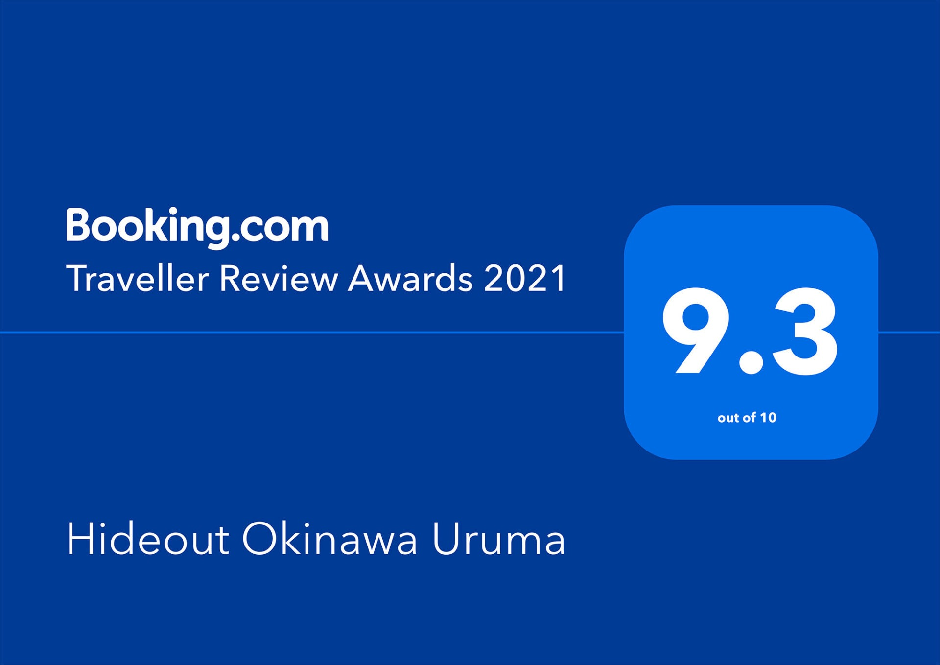 Booking.com Traveller Review Awards 2021