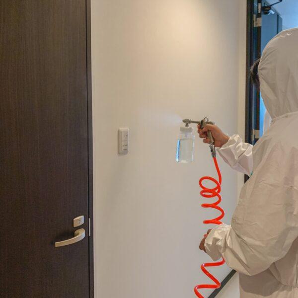 無光触媒エコキメラコーティングで消臭・抗菌・抗ウイルス